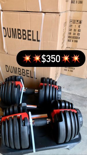 🔥NEW IN BOX🔥 PREMIUM ADJUSTABLE DUMBBELLS (5lbs-52.5lbs) LOCAL PICK UP IN LA for Sale in Los Angeles, CA