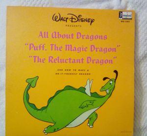 """Walt Disney Record """" Puff The Magic Dragon """" 33 1/2 rpm 1966 for Sale in Sacramento, CA"""