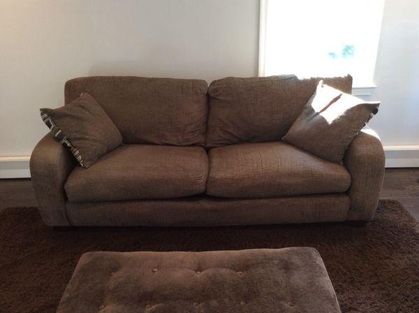 Sofa/couch + ottoman