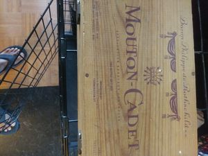 Baron Rothschild antique wooden wine box for Sale in Ruskin, FL