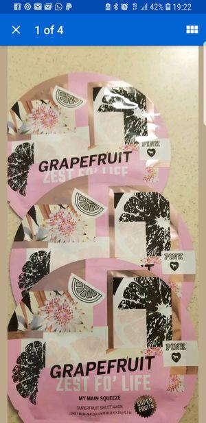 Victoria secret pink grape fruit zest sheet mask lot of 3 for Sale in Lawrenceville, GA