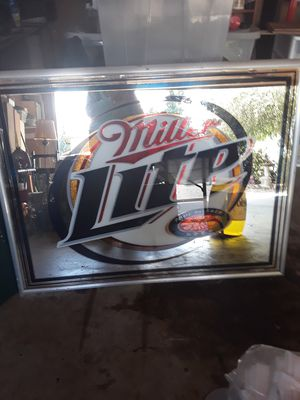 Miller lite bar mirror for Sale in Tacoma, WA