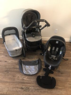 Peg Perego stroller, bassinet & car seat like new for Sale in Phoenix, AZ