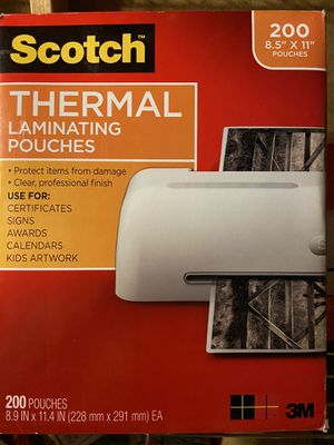 Thermal Laminating pouches for Sale in Glendale, AZ
