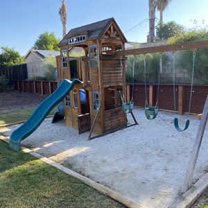 Large Outdoor Kids Playset With Swings & Slides for Sale in Redlands, CA