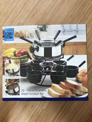 Kitchen Corner Stainless Steel Fondue Set for Sale in Plymouth Meeting, PA