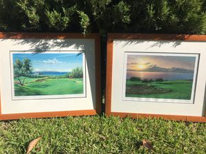 Larry Dotson Signed Artwork - Hawaii Golf Courses for Sale in Riverside, CA
