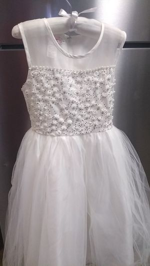 Gorgeous white dress kids weddings holiday for Sale in Rochester, MN