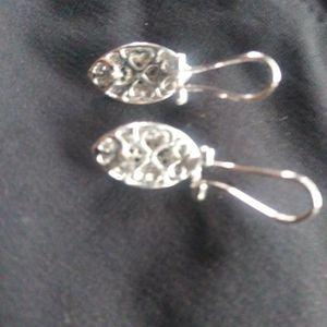 White Baggette Black Diamond Earrings for Sale in Battle Ground, WA