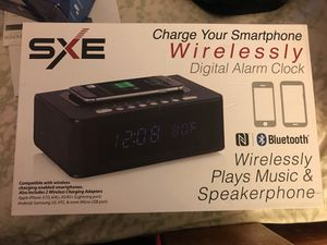 Wireless Phone Charger, clock, Bluetooth speaker all in one for Sale in Laurel, MD