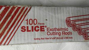 """Box of 100 Arcaire Exothermic Cutting Rods 1/4"""" x 22"""" 42-049-003 for Sale in Edgerton, MO"""