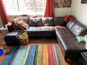 Sectional Leather Couch for Sale in Alexandria, VA