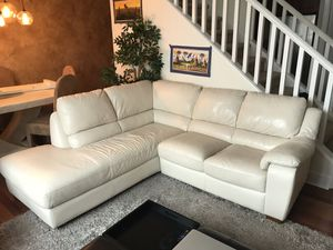 White leather sectional couch for Sale in New York, NY
