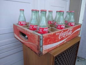 Antique Vintage Coca Cola Wooden Crate Coke with Bottles for Sale in Modesto, CA