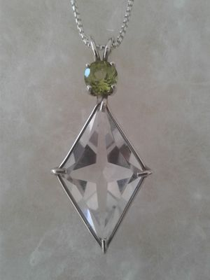 Star-Cross Pendant, Genuine Gemstones, Sterling Silver, with Chain for Sale in Woodbridge, VA