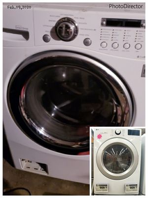 Washer and dryer combo. LG barley used. I have a full size now. Asking $400. Selling at Home depot for $800 brand new pic shown.Electric .110 outlet for Sale in Manchester, MO