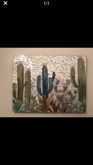 2x3 feets cactus mosaic wall hanging art picture for Sale in Reston, VA
