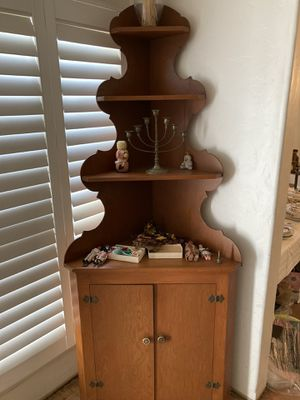 Antique rustic country wood hutch for Sale in Orange, CA
