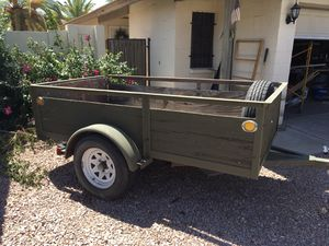 4x8 open trailer new tires tows great. Trade for a enclosed box trailer. Need one ASAP. for Sale in Glendale, AZ