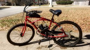 Motorized bike red cruiser for Sale in Tyler, TX