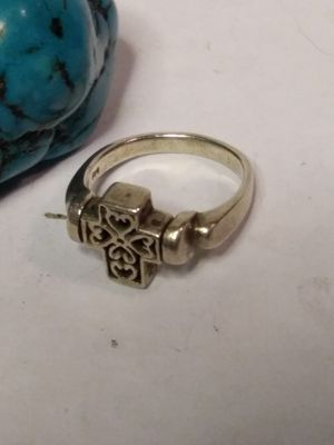 Sterling silver spining cross size 7 ring for Sale in Willow Street, PA