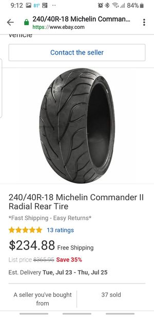Brand new 240 rear tire for Sale in Gibsonton, FL
