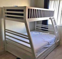 Bunk Bed 🛌 With Mattress/// Financing Available for Sale in Opa-locka,  FL