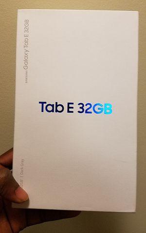 Samsung Galaxy Tab E Cellular +wifi unlocked for Sale in Gaithersburg, MD