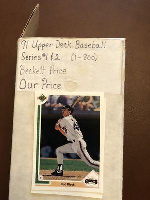 1991 Upper Deck Baseball card set for Sale in Hillsboro, OR