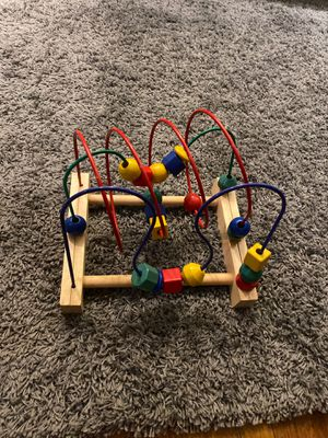 Ikea Mula Bead Wooden Roller Coaster Toddler Developmental Toy Classic for Sale in Montebello, CA