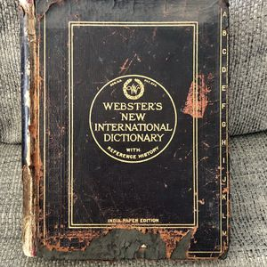 WEBSTER'S New International Dictionary w/Ref History - India Paper Edition 1926! for Sale in Fresno, CA