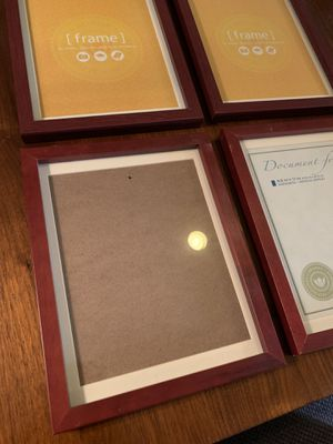 "4 wooden picture frames (8.5"" x 11"") for Sale in Fairfax, VA"