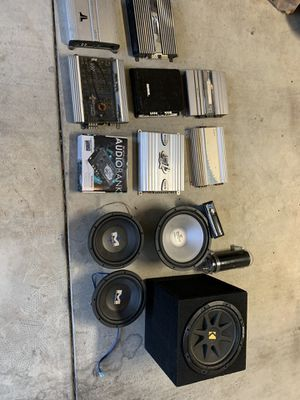 Kicker amp subwoofers 10s 12s stereo epicenter for Sale in Fresno, CA