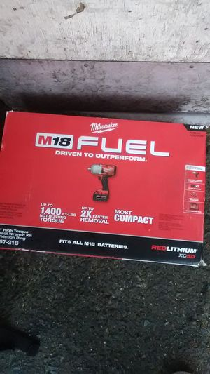 """I have Milwaukee M18 1/2""""High torque impact wrench kit w/friction ring 2767-21B for sale. for Sale in Seattle, WA"""
