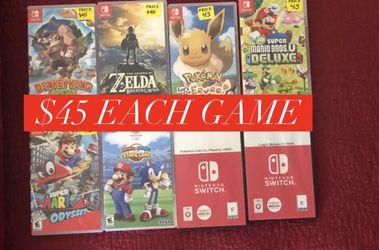 Nintendo Switch Games $45 Each for Sale in Lynwood,  CA