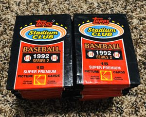 1992 Topps Stadium Club series 2 baseball cards for Sale in Youngtown, AZ