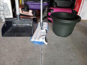 Mop / garbage pan / 2 flower pots for Sale in Las Vegas, NV
