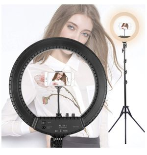 "18"" LED Ring Light Adjustable Color Temperature 3200-5600K Warm to Cold Color with Phone Holder for Camera,Makeup, YouTube, Vlog and Vine Self-Portra for Sale in Irwindale, CA"