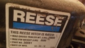 Reese 20k 5th wheel hitch like new for Sale in Corning, CA