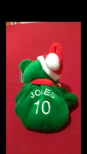 Mint Condition Retired 1998 Salvinos Bamm Beanos Christmas Edition Baseball Bears Chipper Jones #10 With Santa Hat for Sale in Portland, OR