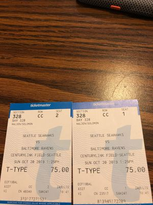 Ravens vs Seahawks for Sale in Mercer Island, WA