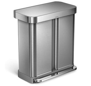 simplehuman 58 Liter Step Can Dual for Sale in Las Vegas, NV