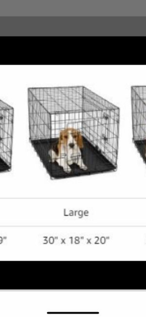 Large black dog crate used for Sale in Upland, CA