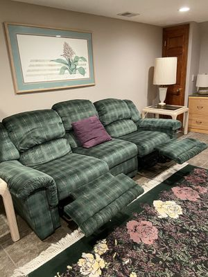 Couch, Loveseat and a Chair 5 Recliners! for Sale in Hazlet, NJ