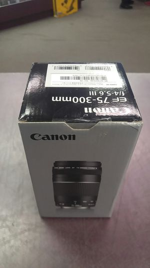CANON EF 75-300mm f/4-5.6 III CAMERA LENS for Sale in Richmond, VA