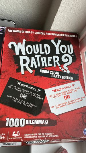 Would You Rather Board Game for Sale in Austin, TX
