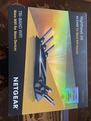 Netgear Nighthawk X6 AC3200 WiFi Router for Sale in Orland Park, IL