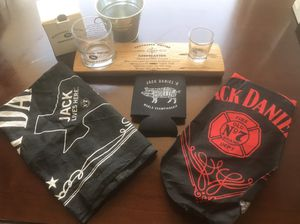 JACK DANIELS Bandanas SQUIRE GLASSES barrel stave for Sale, used for sale  Houston, TX