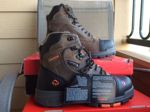 NEW MEN'S WOLVERINE BLADE LX 6 CM STEEL TOE WATERPROOF LEATHER WORK BOOTS Sz 9.5 for Sale in Lewisville, TX