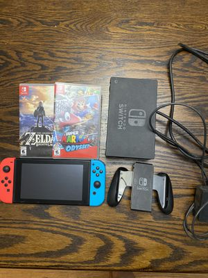 Nintendo Switch with Zelda BOTW and Super Mario Odyssey for Sale in Sheridan, CO